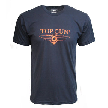 Top Gun Ultra-soft Logo Tee - Navy