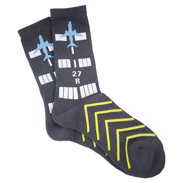 Premium Crew Socks - Runway Design-Luso Aviation-WLUS900-RWY-Downunder Pilot Shop Australia