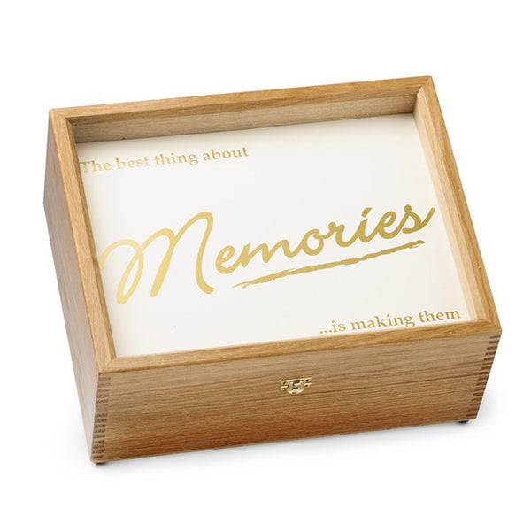 """Memories"" Memory Box (Gold)"