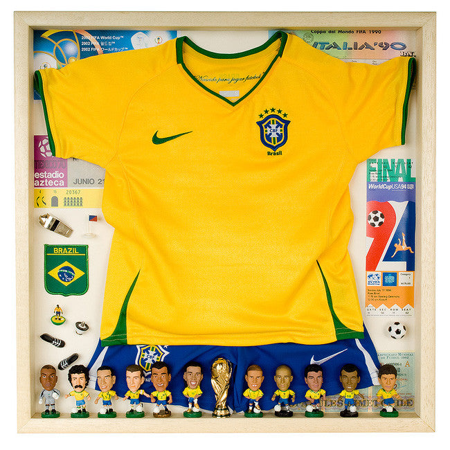 Brazil Football Display Case