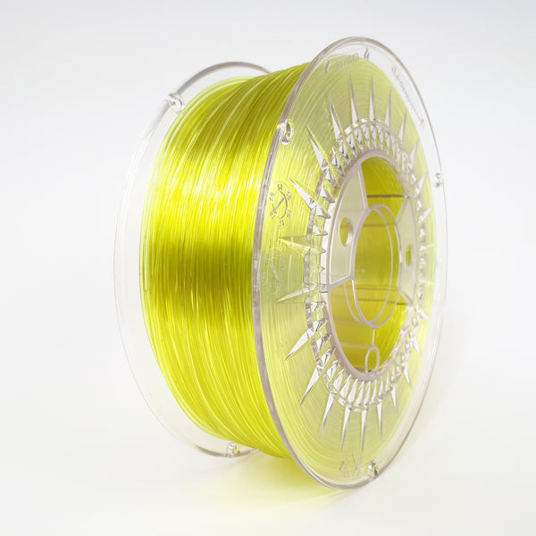 Devil Design PETG Filament 1.75 - 1Kg - HELDER GEEL TRANSPARANT - DealZZ
