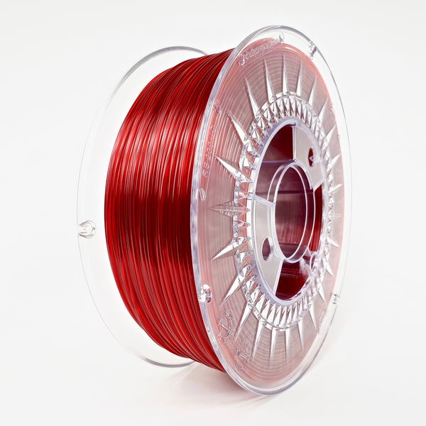 Devil Design PETG Filament 1.75 - 1Kg - RUBY ROOD TRANSPARANT - DealZZ