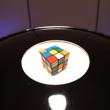 Load image into Gallery viewer, Giant Mirage 3D Hologram Generator with Rubik Cube