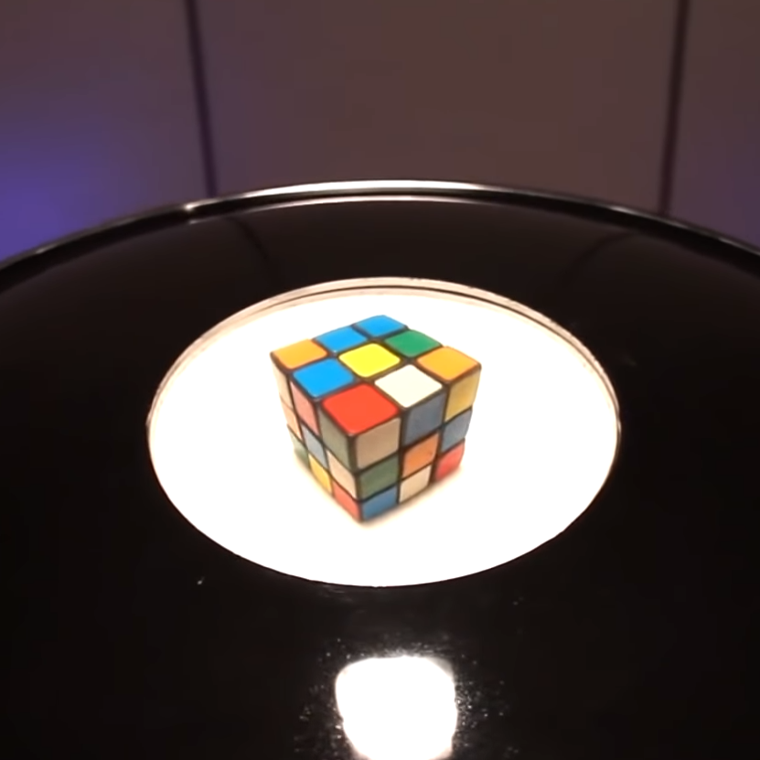 Giant Mirage 3D Hologram Generator with Rubik Cube