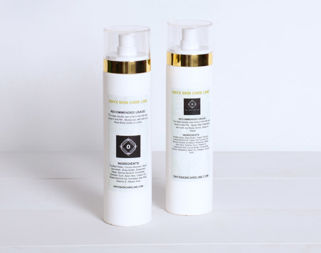 DUO SKIN CARE SYSTEM FOR DRY SKIN - Nourishing Wash and Lotion - Natural Rose Fragrance - for WOMEN - Onyx Skin Care Line