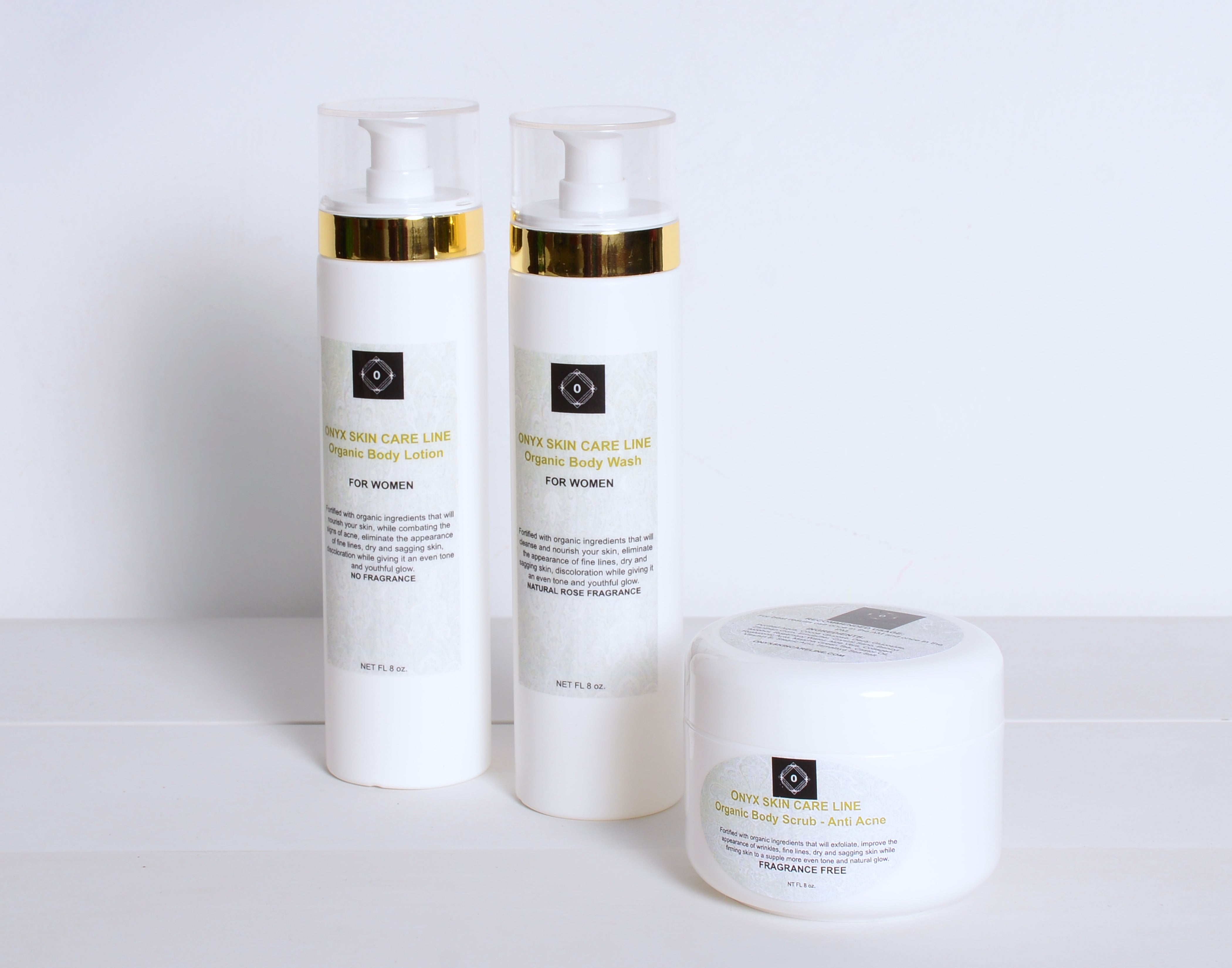 THREE STEP SKIN CARE SYSTEM - Nourishing Wash, Scrub and Lotion - Natural Calming Lavender Fragrance - for WOMEN