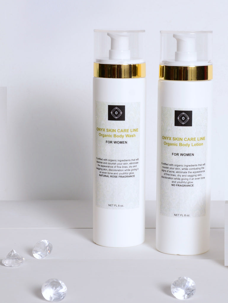 DUO SKIN CARE SYSTEM - Nourishing Wash and Lotion - Calming Lavender Fragrance - for WOMEN - Onyx Skin Care Line