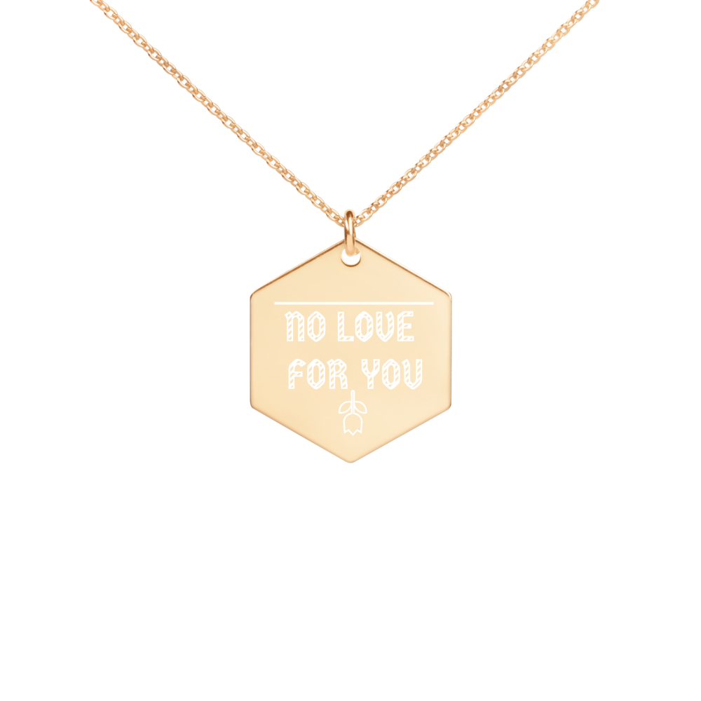 NO LOVE FOR YOU ROSE NECKLACE - Holy Suicide