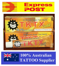 Load image into Gallery viewer, Gold Tktx Tattoo numbing cream