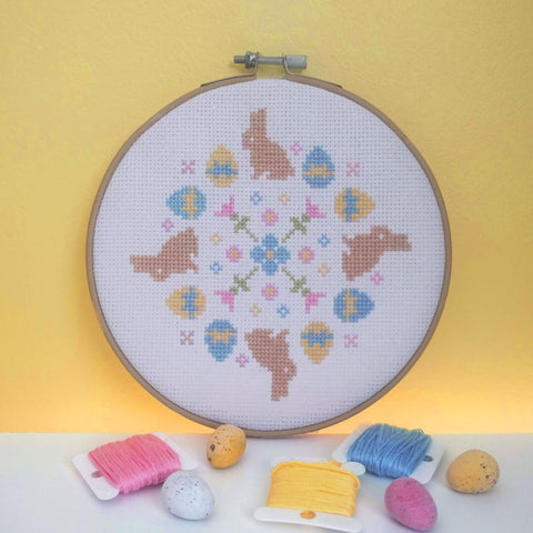 Easter Mandala Cross Stitch Pattern