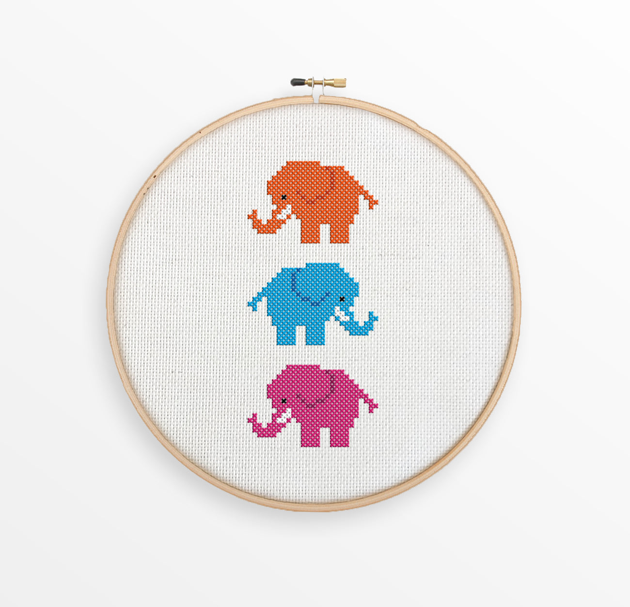 Cute Elephants Cross Stitch Pattern