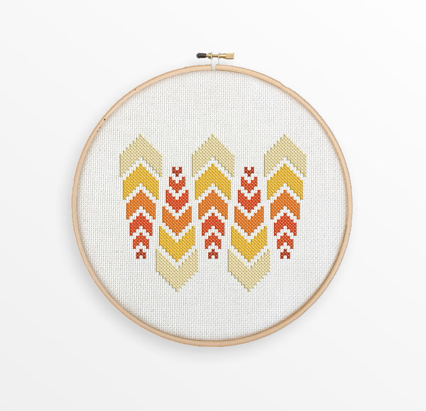 Abstract Ombre Arrows Cross Stitch Pattern