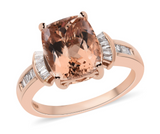 Morganite Wedding Ring With Diamonds Gemstone Collectors U.S.