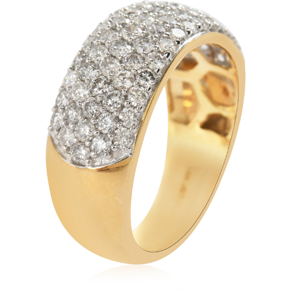 1.50ctw Natural Diamond Band Ring in 14K Yellow Gold Gemstone Collectors U.S.