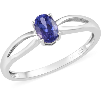 AAA Tanzanite Solitaire Ring in Platinum over Sterling Silver Gemstone Collectors U.S.