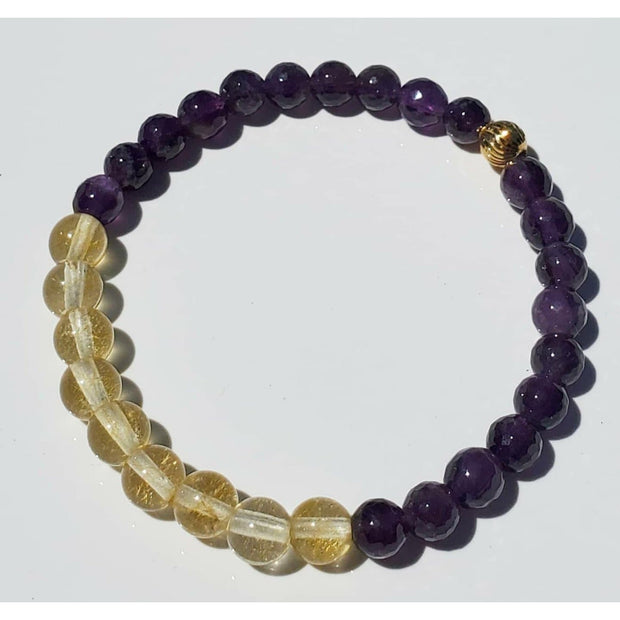 Amethyst and Citrine Bracelet Mindful Creations by Gloria