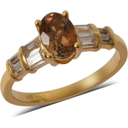 Andalusite & Zircon Ring in Yellow Gold over Sterling Silver Gemstone Collectors U.S.
