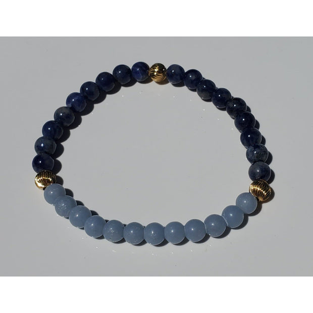 Angelite and Sodalite Bracelet Mindful Creations by Gloria
