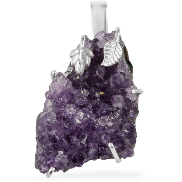 Artisan Crafted Amethyst Geode Pendant in Sterling Silver Gemstone Collectors U.S.