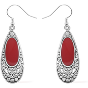 Bali inspired Red Sponge Coral Earrings in Sterling Silver Gemstone Collectors U.S.