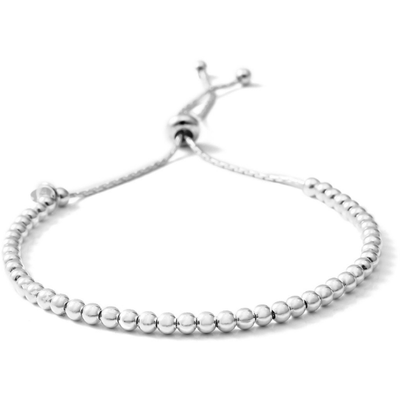 Bead Bolo Bracelet in Platinum over 925 Sterling Silver Gemstone Collectors US