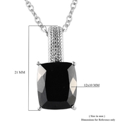 Black Tourmaline Ring & Necklace Jewelry Set in Stainless Steel Gemstone Collectors U.S.