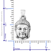 Buddha Head Pendant in Sterling Silver Gemstone Collectors U.S.