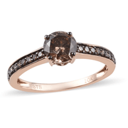 Champagne Diamond Wedding Ring in 10K Rose Gold 1.00ctw Gemstone Collectors U.S.
