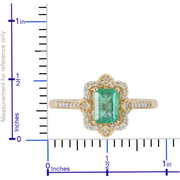 Colombian Emerald & Diamond Ring in 18K Yellow Gold Gemstone Collectors U.S.