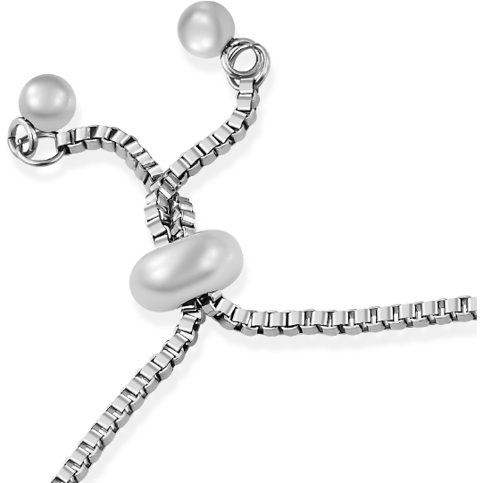 "Cross Bolo Bracelet in Platinum over 925 Sterling Silver & Surgical Grade Stainless Steel (Adj. 6-9"") Gemstone Collectors US"
