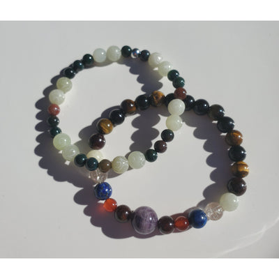 Custom Men's Multi Gemstone Crystal Bracelets Mindful Creations by Gloria
