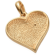 "Diamond Accent ""You Are Mine"" Heart Pendant in 14K YG over Sterling Silver Gemstone Collectors U.S."