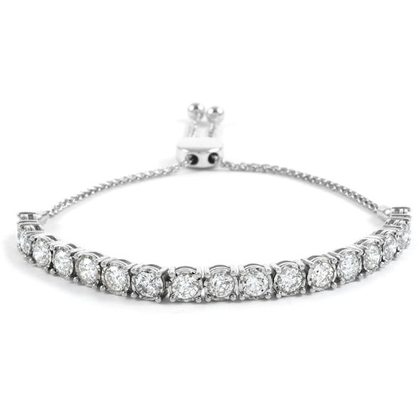 Diamond Bolo Bracelet in White Gold 5.00ctw Gemstone Collectors U.S.