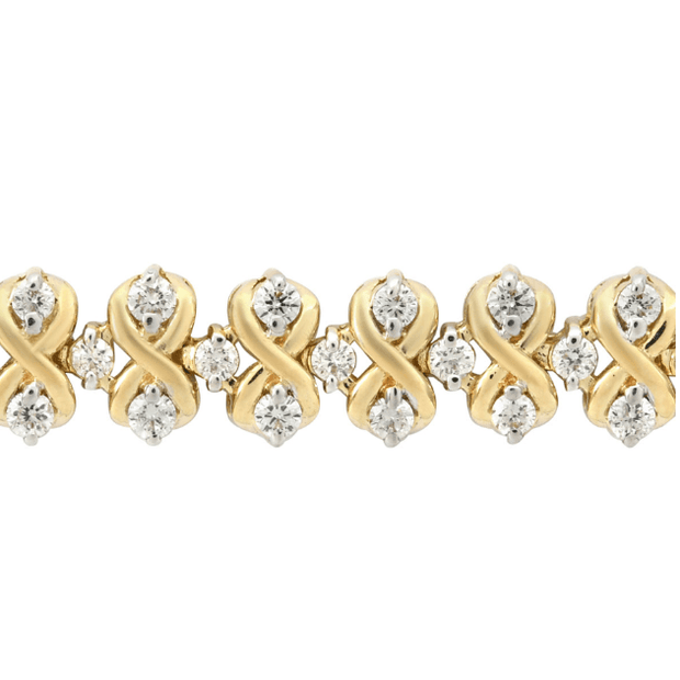 Diamond Bracelet in Yellow Gold 2.00ctw. Gemstone Collectors U.S.