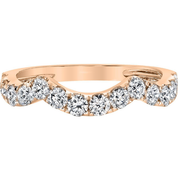 Diamond Stackable Ring in 14K Rose Gold Gemstone Collectors U.S.