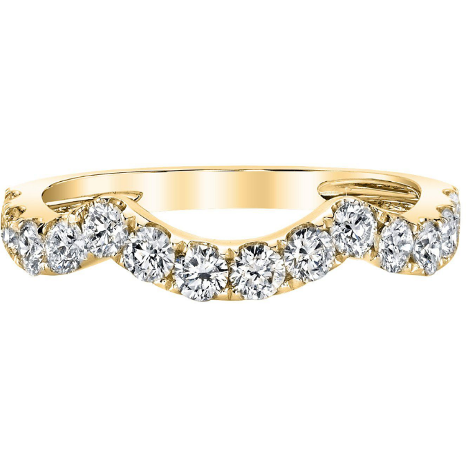 Diamond Stackable Ring in 14K Yellow Gold Gemstone Collectors U.S.