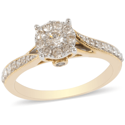 Diamond Wedding Ring in 10K Yellow Gold Gemstone Collectors U.S.