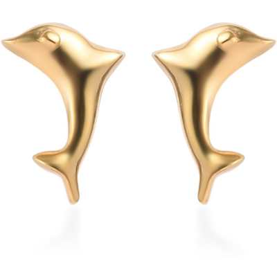 Dolphin Earrings in Yellow Gold over Sterling Silver Gemstone Collectors U.S.