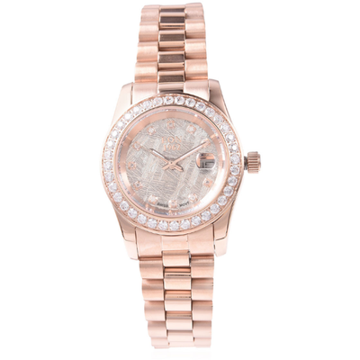 EON 1962 Meteorite Watch In Rose Gold over Surgical Grade Stainless Steel Gemstone Collectors U.S.