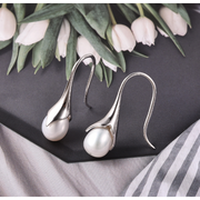 Freshwater Pearl Dangle Earrings in Platinum over Sterling Silver Gemstone Collectors U.S.