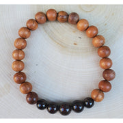 Garnet and Rosewood Mens Mala Bracelet Mindful Creations by Gloria
