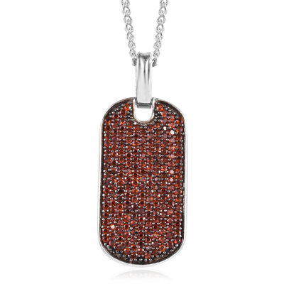 Garnet Necklace in Platinum over Sterling Silver Gemstone Collectors U.S.