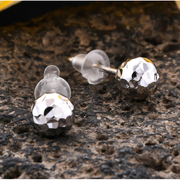 Hammered Ball Stud Earrings in 14K White Gold Gemstone Collectors U.S.