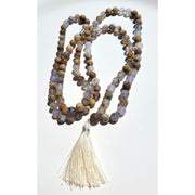 Handcrafted Blue Chalcedony Mala Necklace Mindful Creations by Gloria