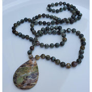 Handcrafted Jasper And Agate Mala Necklace Mindful Creations by Gloria