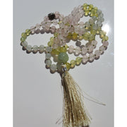 Handcrafted Serpentine, Moonstone and Rose Quartz Mala Necklace Mindful Creations by Gloria