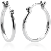 Hoop Earrings in Solid 950 Platinum Gemstone Collectors U.S.