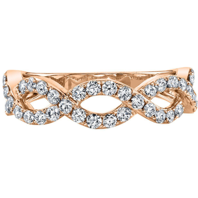 Infinity Diamond Stackable Ring in 14K Rose Gold Gemstone Collectors U.S.