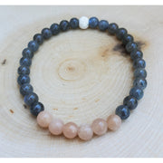 Labradorite and Peach Moonstone Bracelet Mindful Creations by Gloria