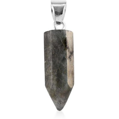 Labradorite Pendant in Platinum over 925 Sterling Silver Gemstone Collectors U.S.